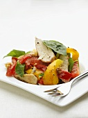 Roast chicken breast with peppers