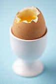 Soft-boiled egg in an eggcup
