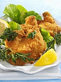 Viennese fried chicken with parsley