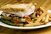 Turkey ham sandwich with chips