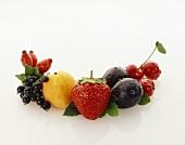 Assorted, freshly washed fruit