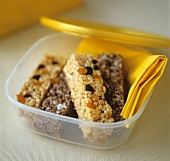 Flapjacks in a plastic box