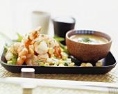 Prawn and sweetcorn salad with herb mayonnaise