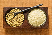Fenugreek seeds, unground and ground