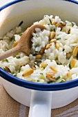 Lemon risotto with pine nuts