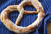 A Bavarian salted pretzel