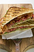BLT sandwiches, toasted
