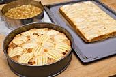 Apfeltorte und Apfelkuchen vom Blech
