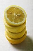 Lemon halves, in a pile