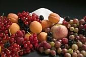 Fruit still life with sugar