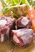 Oxtail and fresh soup vegetables