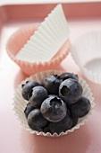 Fresh blueberries in sweet case