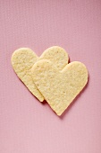 Two pastry hearts