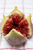 Fresh fig, cut open
