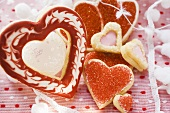 Assorted heart-shaped biscuits
