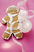 Gingerbread man and Christmas bauble