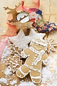 Gingerbread man and gingerbread biscuits for Christmas