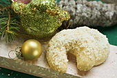 Vanilla crescent with grated coconut