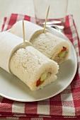 Two tuna tramezzini rolls