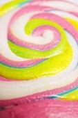 Pastel-coloured lollipop (detail)