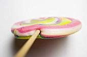 Pastel-coloured lollipop