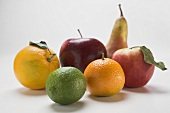 Apples, pear and citrus fruit