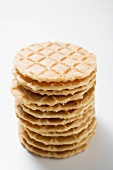 Ice cream wafers (in a pile)