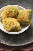 Kadayif and baklava (Turkish desserts)