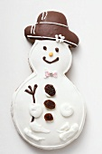 Iced gingerbread snowman biscuit
