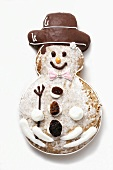 Gingerbread snowman biscuit