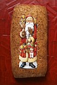 Gingerbread with picture of Father Christmas