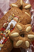 Gingerbread with Father Christmas motif