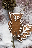 Gingerbread owl on branch