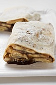 Crêpes with banana and chocolate filling