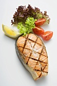 Grilled salmon cutlet