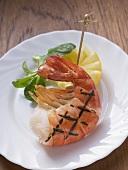 Grilled king prawn