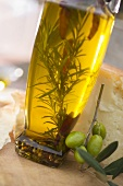 Olive oil with rosemary and chillies