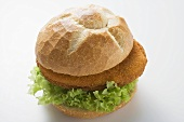 Schnitzel roll with lettuce