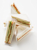 Packs of sandwiches to take away