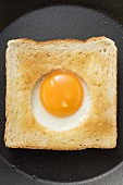 Egg in the basket (Fried egg cooked in centre of slice of toast)