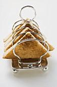 Toast in toast rack