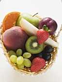 Fresh fruit in basket