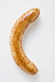 Sausage (bratwurst) on white background