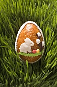 Sweet Easter egg in grass