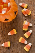 Candy corn (Halloween sweets, USA)