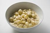 Pearl onions in cream sauce