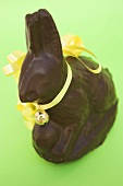 Chocolate Easter Bunny with yellow bow and small bell