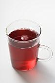 Fruit tea in glass cup
