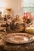 Festive Thanksgiving table (USA)