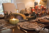 Festive table laid for Thanksgiving (USA)
